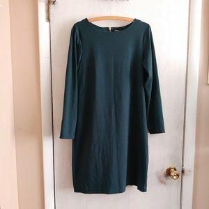 Cynthia Rowley emerald shift dress